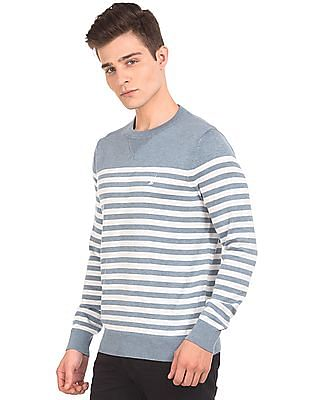 Nautica Striped Crew Neck Sweater