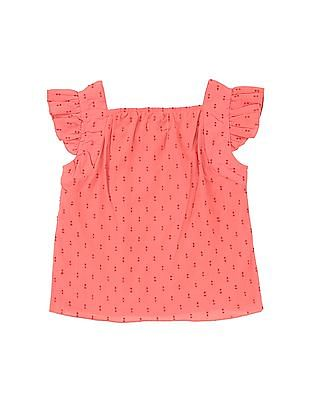Donuts Girls Tucked Front Dobby Top