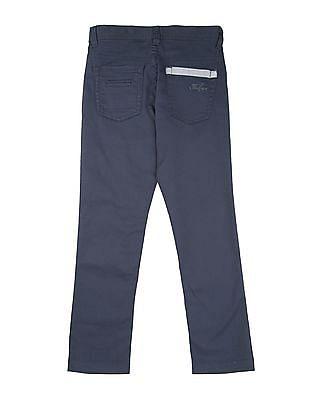 FM Boys Boys Solid Slim Fit Trousers