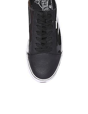 Flying Machine Cap Toe Jelly Panelled Sneakers