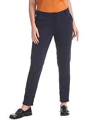 Elle Studio Flat Front Solid Trousers