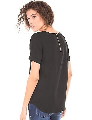 Cherokee High Low Hem Woven Top