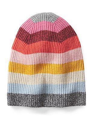 GAP Women Multi Colour Crazy Stripe Beanie