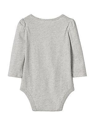 GAP Baby Grey Graphic Long Sleeve Bodysuit