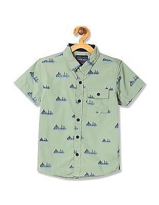 Cherokee Boys Short Sleeve Printed Shirt