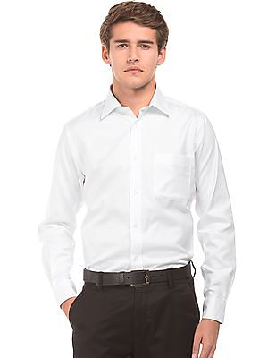 Arrow Herringbone Weave Regular Fit Shirt