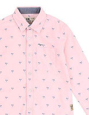 FM Boys Slim Fit Printed Shirt