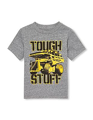 The Children's Place Toddler Boy Short Sleeve 'Tough Stuff' Truck Graphic Tee
