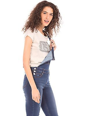 Elle Heathered Embellished T-Shirt