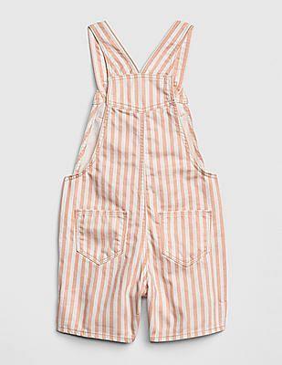 GAP Baby Stripe Denim Shortalls