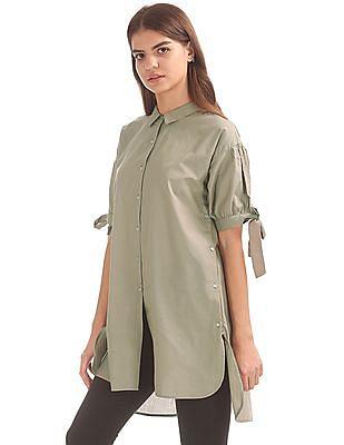 Elle Split Back Shirt Tunic