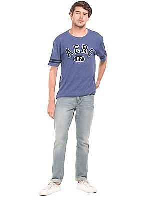 Aeropostale Marled Regular Fit T-Shirt
