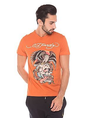 Ed Hardy Regular Fit Crew Neck T-Shirt