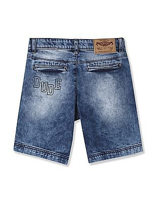 FM Boys Boys Stone Wash Denim Shorts
