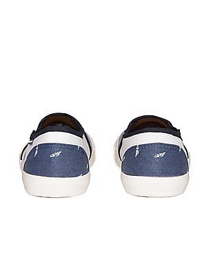 Flying Machine Striped Canvas Slip On Shoes