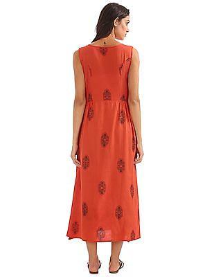 Bronz Sleeveless Maxi Dress