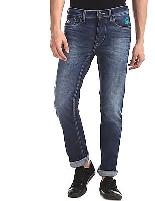 Flying Machine Blue Michael Slim Tapered Fit Mid Rise Jeans