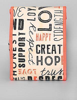 GAP Girls White Ellen Degeneres Customizable Contrast Foldover Lunch Bag