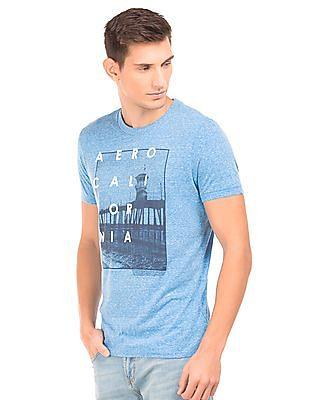 Aeropostale Graphic Print Heathered T-Shirt