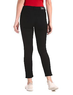 SUGR Black Zipped Hem Rinsed Jeans