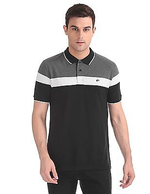 ce86e2ee1 Buy Men Slim Fit Stripe Chest Polo Shirt online at NNNOW.com