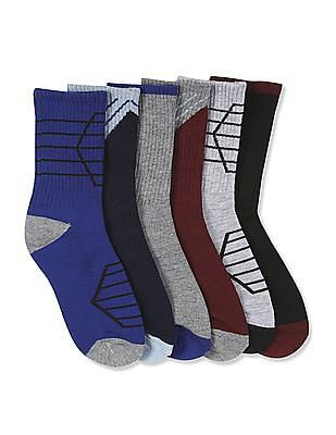 The Children's Place Baby Boys Sport Crew Length Socks - Pack of 6