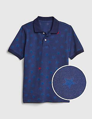 GAP Boys Print Polo Shirt