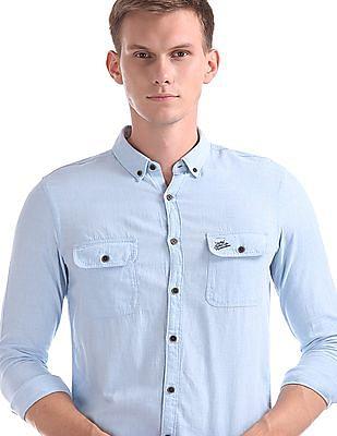 U.S. Polo Assn. Denim Co. Slim Fit Heathered Shirt
