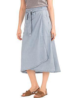 87b00de54bee Buy Women Denim Wrap Skirt online at NNNOW.com