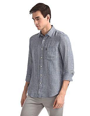U.S. Polo Assn. Tailored Regular Fit Linen Shirt