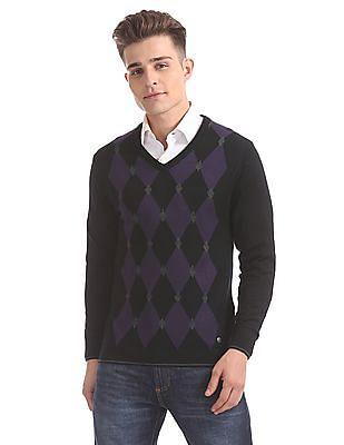 Arrow Newyork Merino Wool V-Neck Sweater