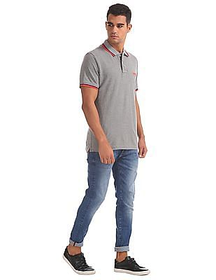 Aeropostale Regular Fit Contrast Tipped Polo Shirt