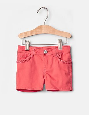 GAP Toddler Girl Pink 1969 Coral Denim Shortie