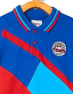 Cherokee Boys Colour Blocked Pique Polo Shirt