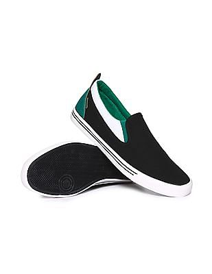 Flying Machine Solid Canvas Slip On Shoes