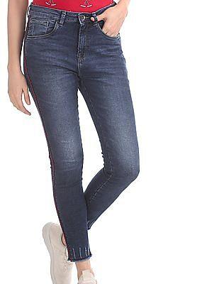 U.S. Polo Assn. Women Blue High Rise Super Skinny Fit Jeans