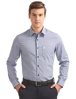 USPA Tailored French Placket Jacquard Shirt