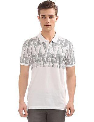 Arrow Newyork Pixel Print Regular Fit Polo Shirt