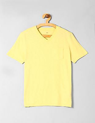 GAP Boys Pocket V-Neck T-Shirt