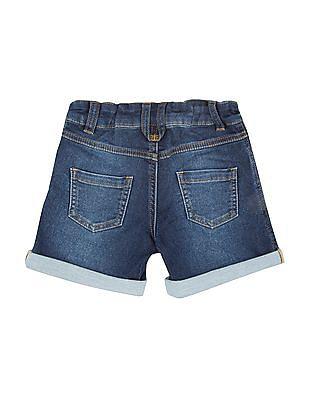 U.S. Polo Assn. Kids Girls Stone Washed Regular Fit Denim Shorts