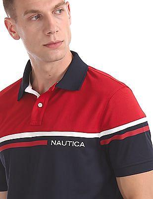 Nautica Colour Block Short Sleeve Polo Shirt