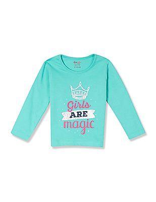 Donuts Girls Printed Long Sleeve T-Shirt