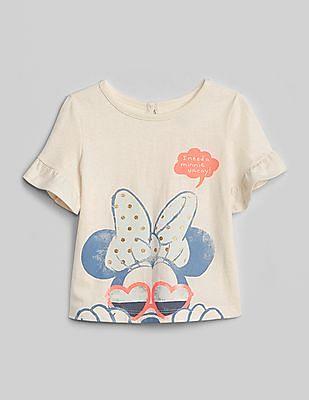 GAP Baby White Disney Minnie Mouse T-Shirt