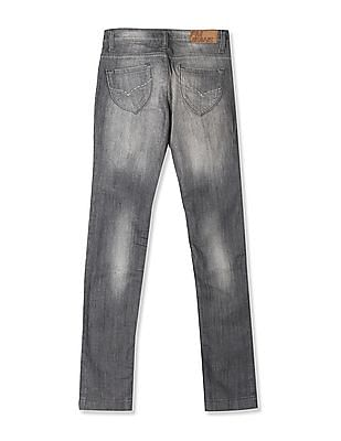 Flying Machine Women Grey Veronica Skinny Fit Washed Jeans