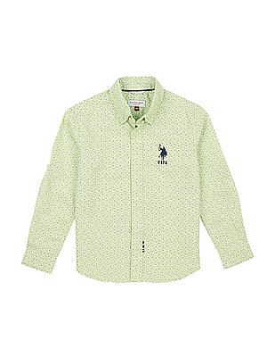 U.S. Polo Assn. Kids Boys Printed Button Down Shirt