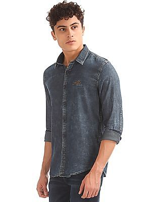 Ed Hardy Slim Fit Stone Wash Shirt