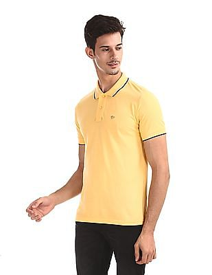 Ruggers Yellow Solid Pique Polo Shirt
