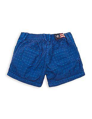 U.S. Polo Assn. Kids Girls Regular Fit Schiffli Shorts