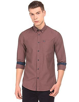 Arrow Sports Button Down Dobby Shirt