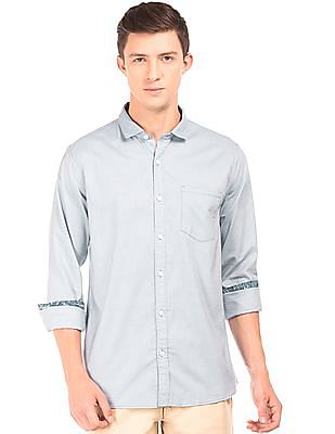 Roots by Ruggers Solid Cotton Shirt